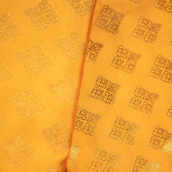 MSP Yellow Broket Silk Fabric