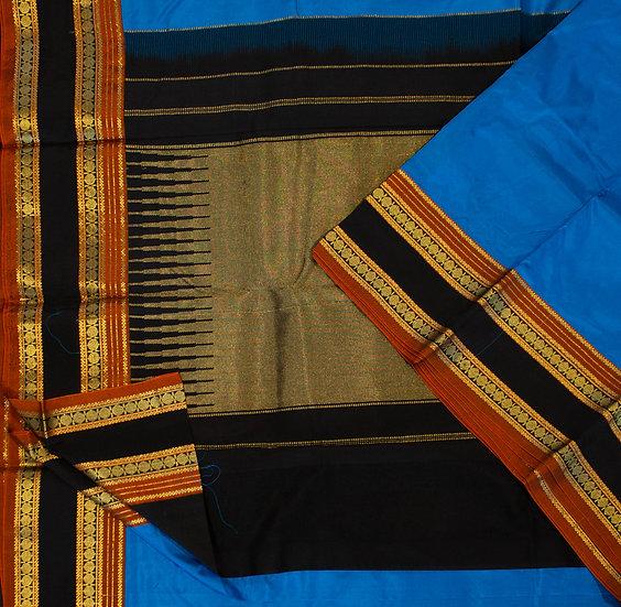 MSP Kadiyal Blue Pure Silk Saree