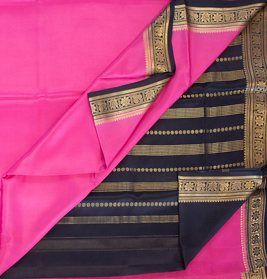 MSP Pink Pure Mysore Silk Saree