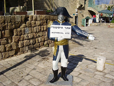 A_statue_of_a_french_soldier,_Old_Jaffa,
