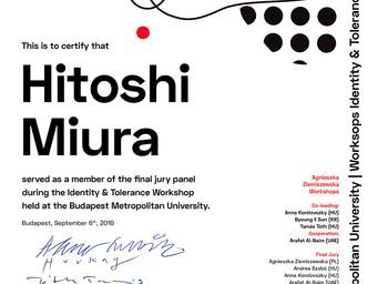 ブダペストメトロポリタン大学のワークショップで最終審査員を勤めました。