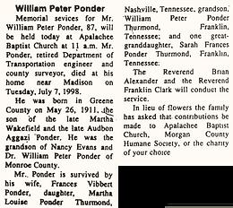 William Peter Ponder
