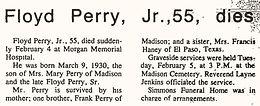 """Floyd """"Billy"""" Perry Jr."""