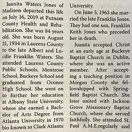 Juanita W. Jones