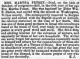 "Martha Ann ""Patsy"" Evans Peteet"