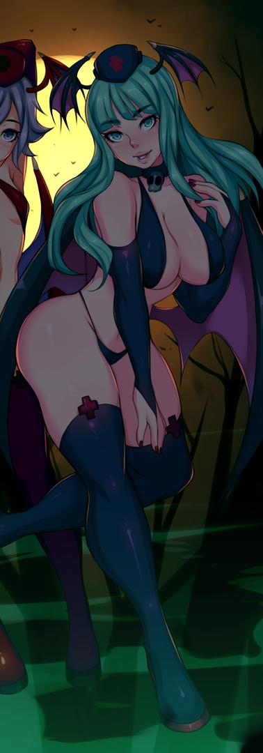 Morrigan & Lilith Halloween
