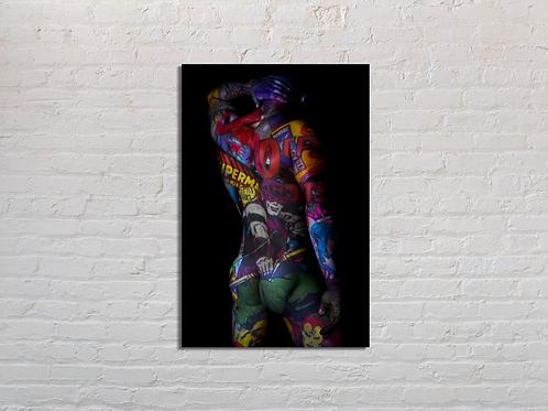 Tableau Hawkeye vente d'oeuvre d'art en ligne Charly N'doumbe