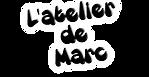 Logo noir et blanc de l'atelier de marc landy