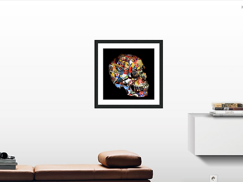 Lithographie Skull Goldorak