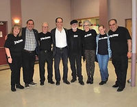 The 3 EGG CREAMS family: L-R;  Donna Lee Cappuzzo, Ross Cappuzzo,  Peter Howe, Vince Bandille,  George Cameron Grant, Debbie Saccomanno, Diane Howe, John Crisafulli