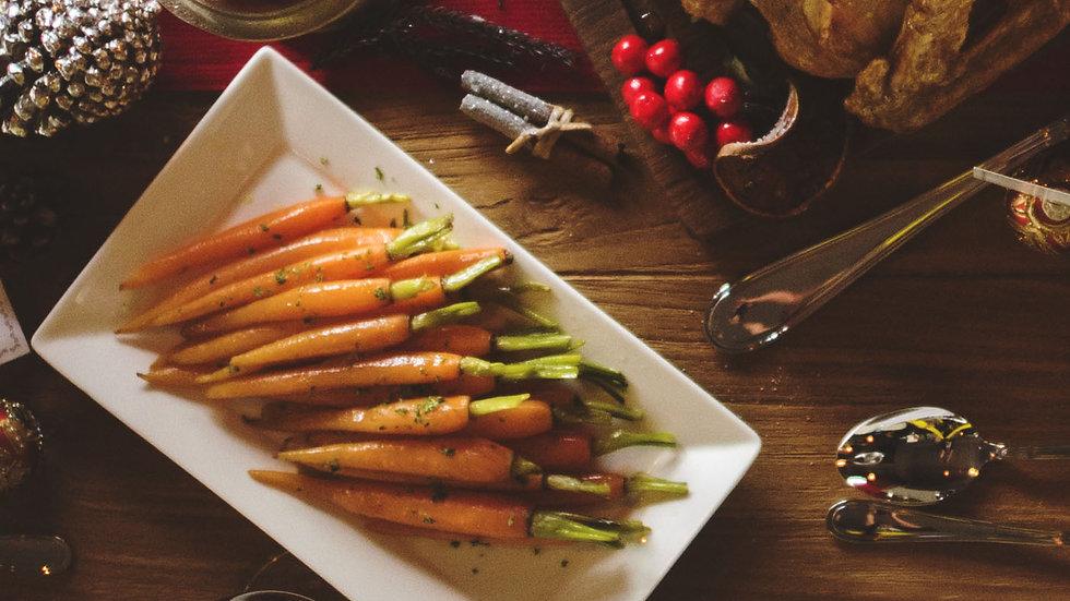One (1) qt. Glazed Baby Carrots