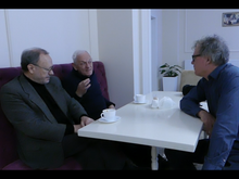 Prof. Petro Rychlo, Prof. Taras Ivassiutyn, Painter Jan Mulder, Chernivtsi, March 2018