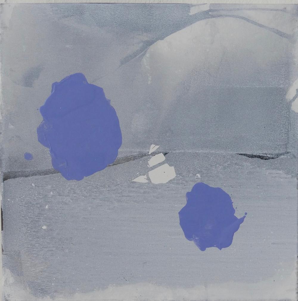 'Schnee ist gefallen, lichtlos, 2018, 50 x 50 cm, Indian ink, oil paint, linen