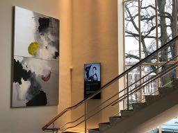 'Paul Celan in Wien' Paintings | Wiener Café  |  Stadsschouwburg Utrecht