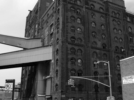 Industrial buildings along the East River