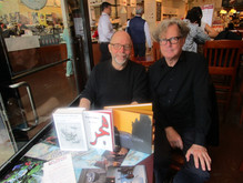 with Pierre Joris at Caffè Lavazza , 5th Ave