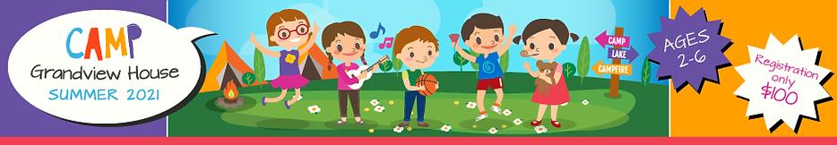 Preschool Summer Camp 2021 Banner
