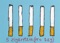 5 Cigarettes a day
