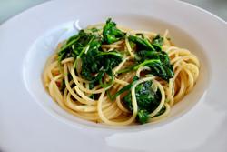 Pasta-Spinat-Knoblauch
