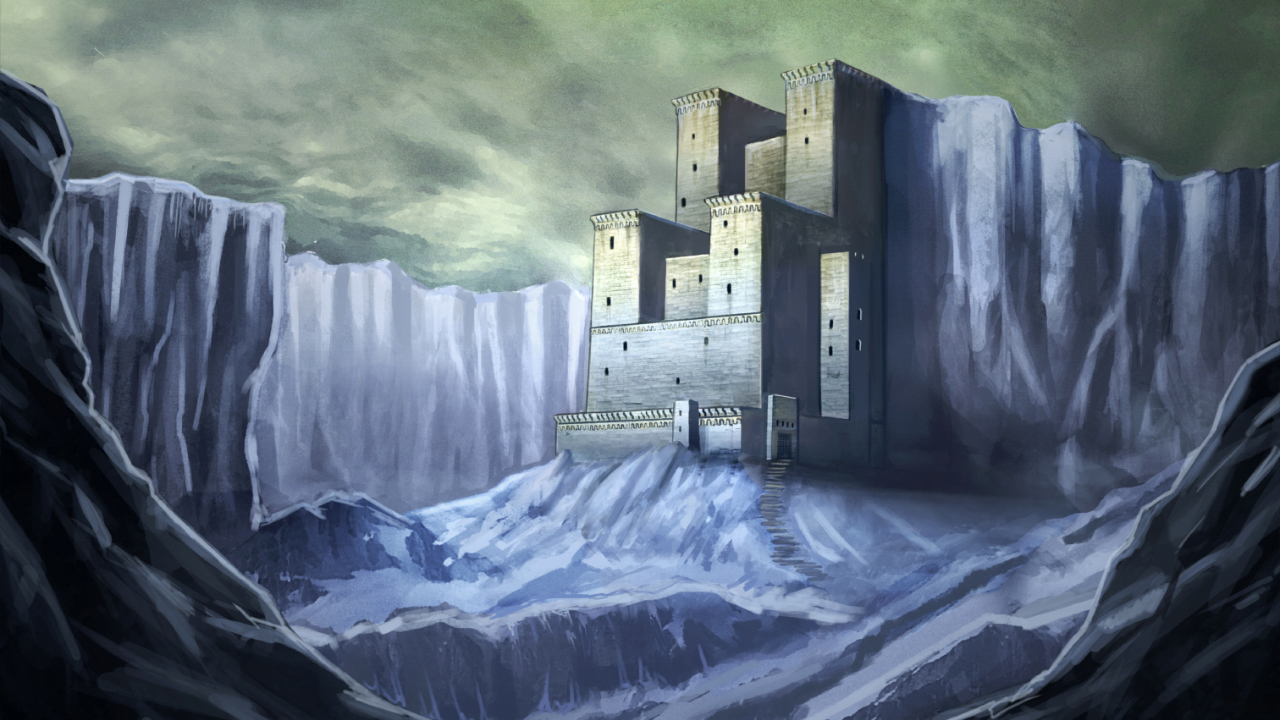 Arctic Castle Painting