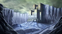 Arctic Castle Painting