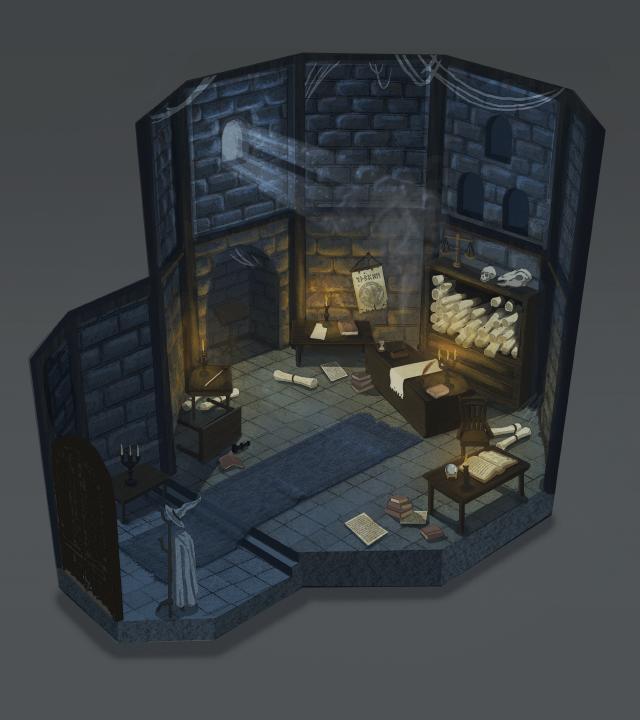 Wizard's Study Interior