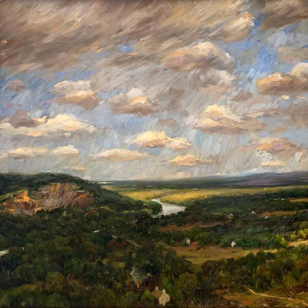 Valley Below August Skies