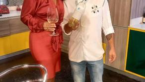 Gianfranco Pulina en TV con la cantante Erika Maria M. Veras