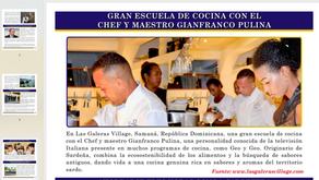 GO:SAMANA - FEBRERO 2020 - CHEF Gianfranco Pulina con gran escuela de Cucina Italiana
