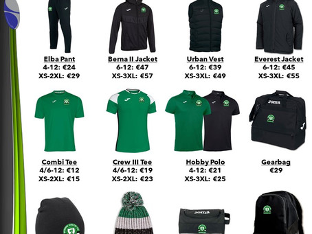 Burrin Celtic Club Shop