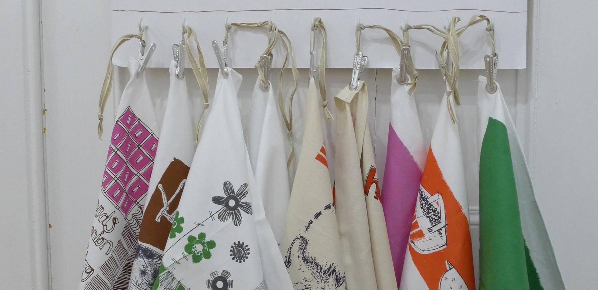 Tea towels on display!