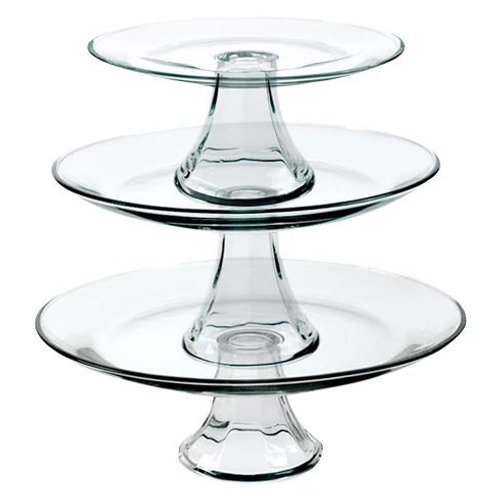 Glass Pedestal Serving Plates