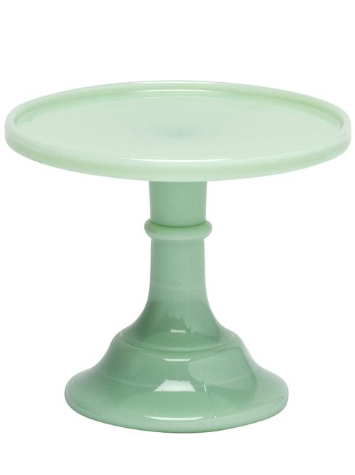 """Mosser Glass Jadeite Cake Stand, 6"""""""