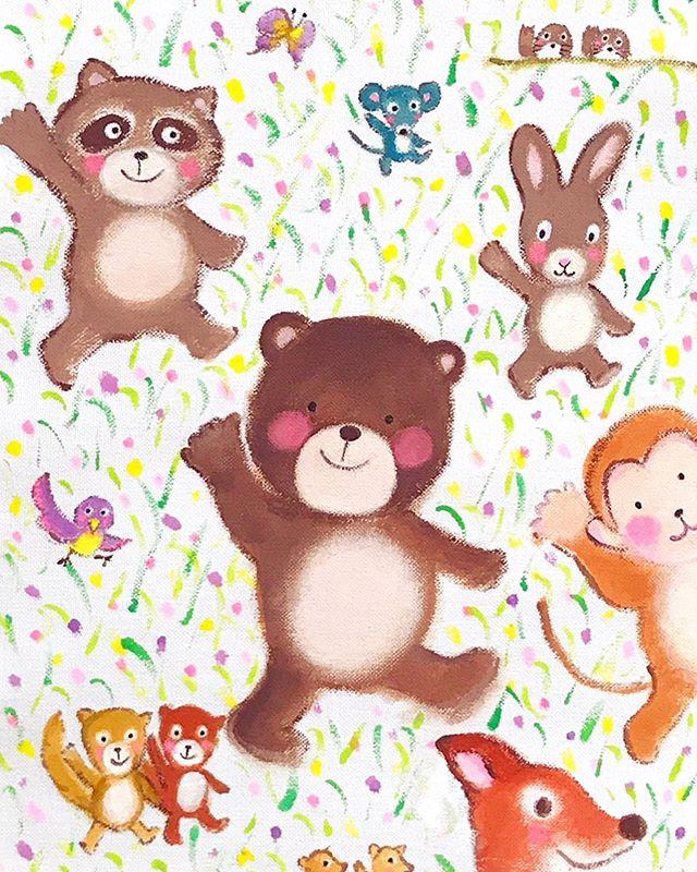 森の仲間たちにクマの子が仲間入り🐻__#jilljilling #ジルジリング