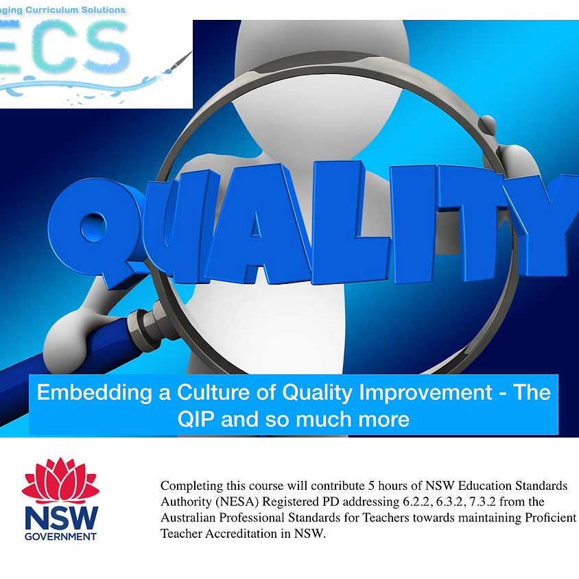 Embedding a Culture of Improvement - the QIP and so much more