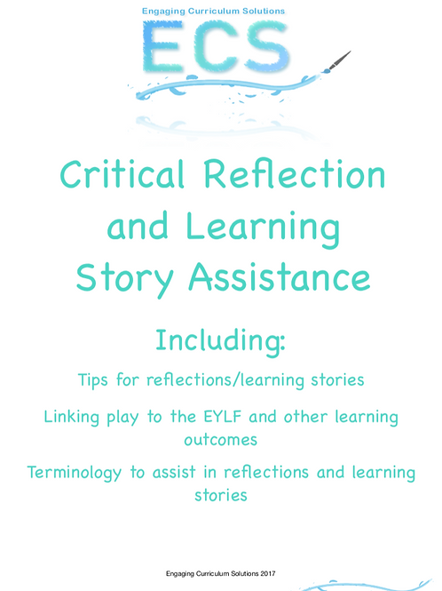 Critical Reflection and Learning Story Assistance