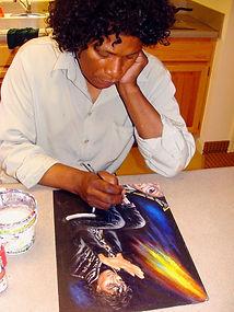 Ron painting Michael.jpg