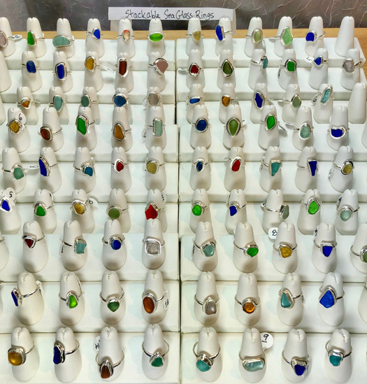 Stackable Sea Glass Rings