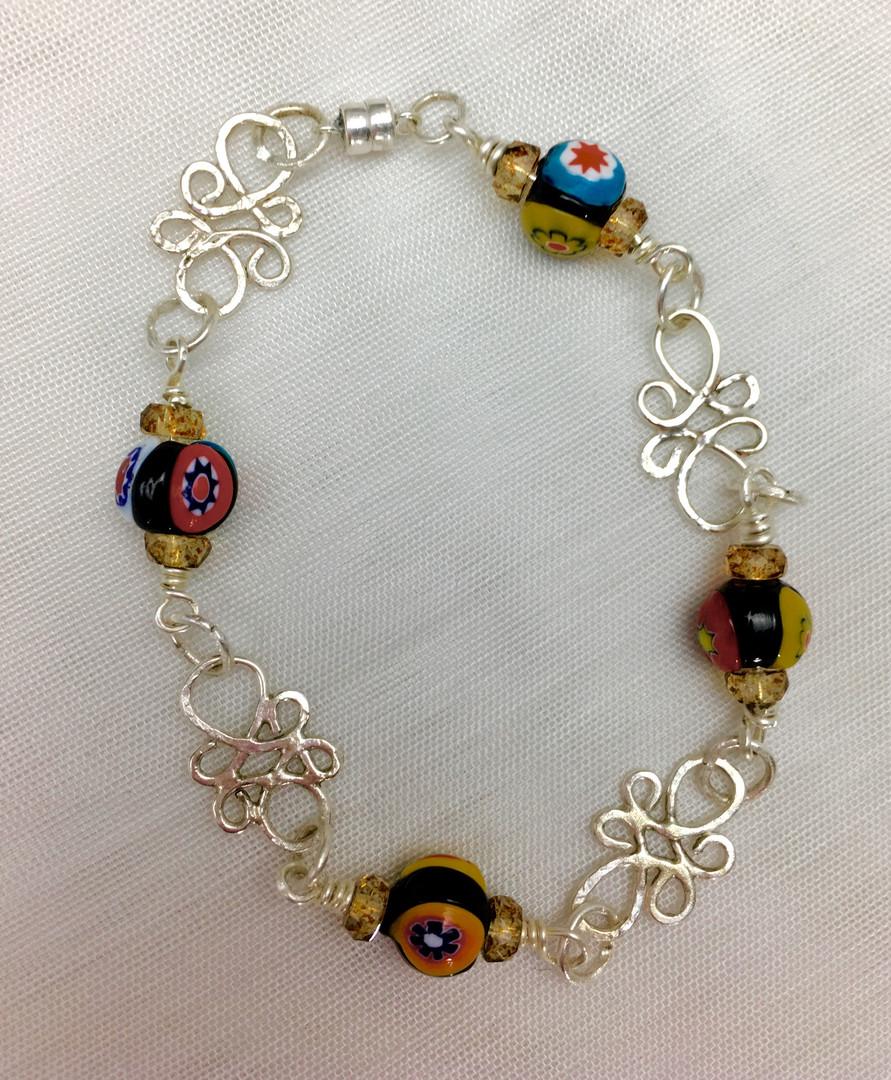 Vintage Venetian & Czech Glass Bracelet