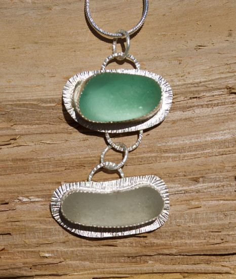 English Sea Glass Pendant