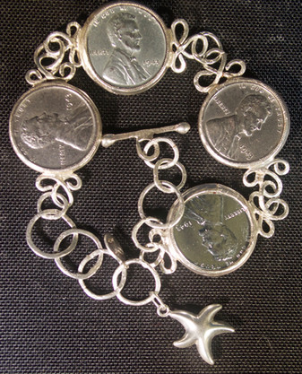 1943 Steel Penny Bracelet