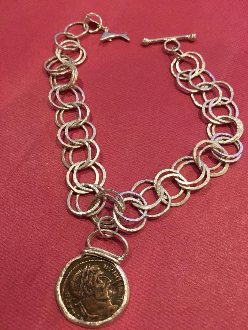 Emperor Constantine Coin Bracelet