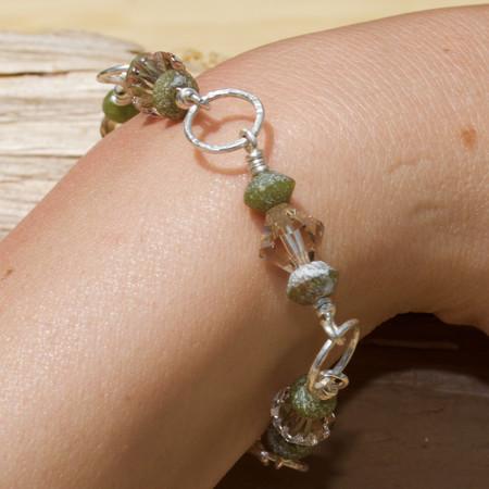 Roman Glass Beaded Bracelet