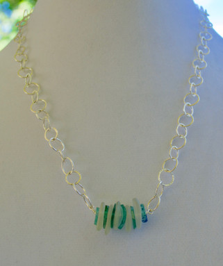 Roman Glass Disc Necklace