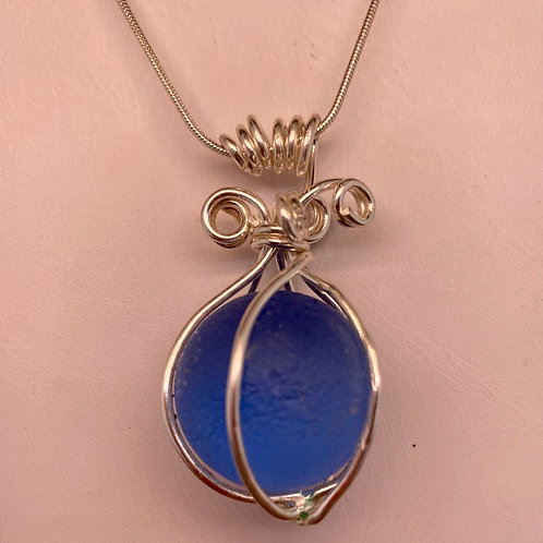 Cornflower Shooter Marble Pendant