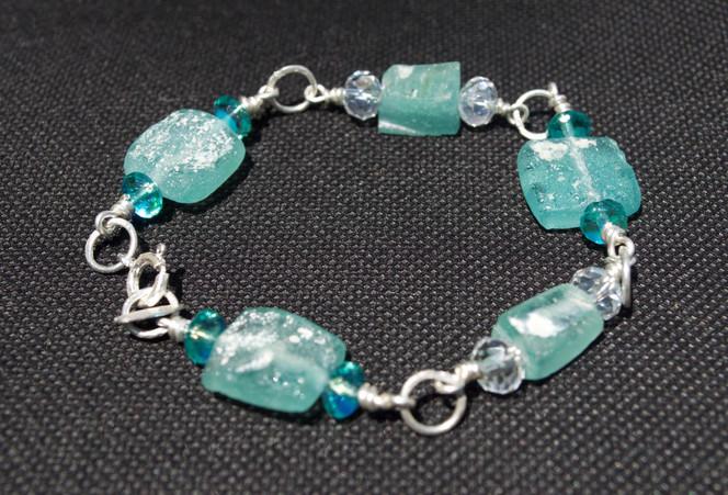 Squared Roman Glass Bracelet
