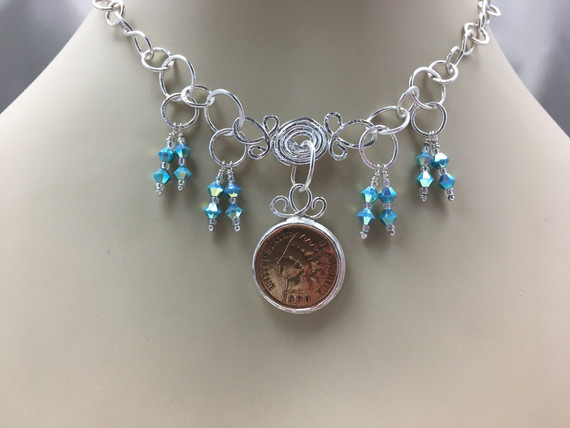 1900 Indian Head Penny Necklace