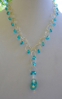Czech Beads and Roman Glass Necklace