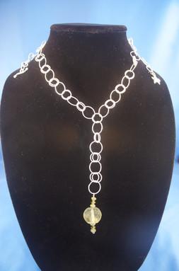Roman GlassLariat Necklace
