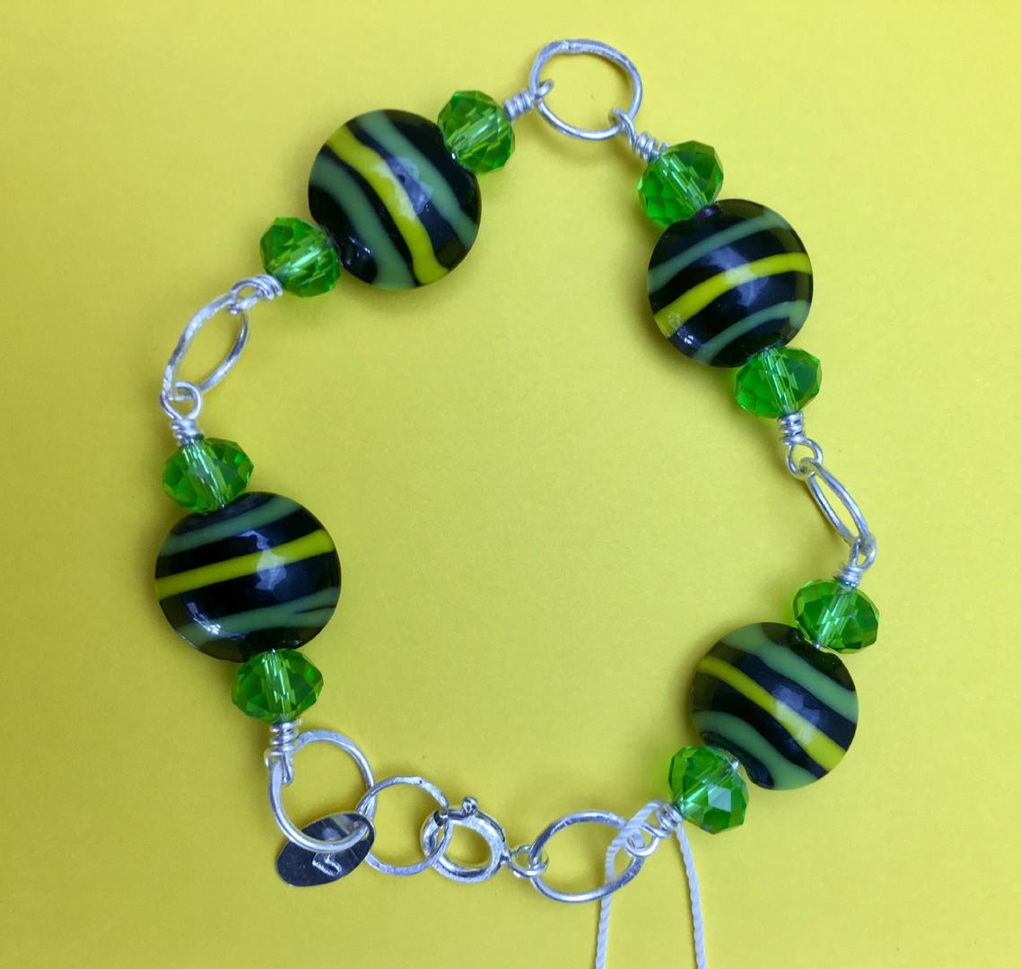 Vintage Beads & Crystal Bracelet